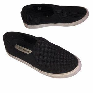 Steve Madden Zarayy Black Slip On Sneakers Size 8
